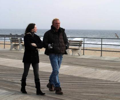 "Evan Rachel Wood and Mickey Rourke in ""The Wrestler."""