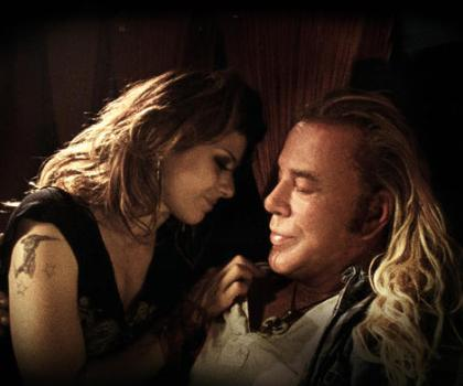 "Marisa Tomei and Mickey Rourke in ""The Wrestler."""