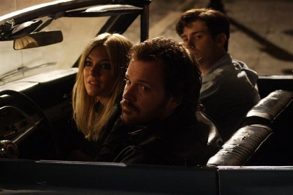 "Peter Sarsgaard, Sienna Miller and Jon Foster in ""The Mysteries of Pittsburgh."""
