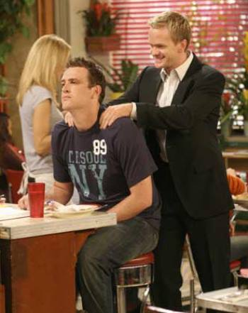 "Jason Segel and Neil Patrick Harris in ""How I Met Your Mother"""