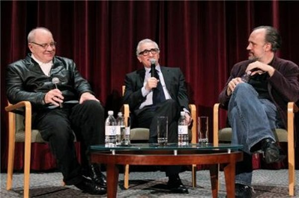 "Paul Schrader and Martin Scorsese discuss the classic film ""Taxi Driver"" at the Director's Guild Theater in New York."