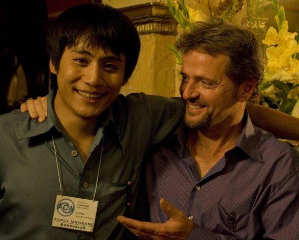 """Ye Liu and Aidan Quinn in """"Dark Matter."""""""