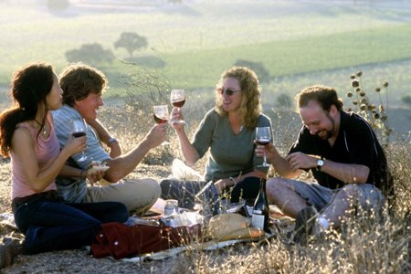 "Sandra Oh, Thomas Haden Church, Virginia Madsen and Paul Giamatti in ""Sideways."""