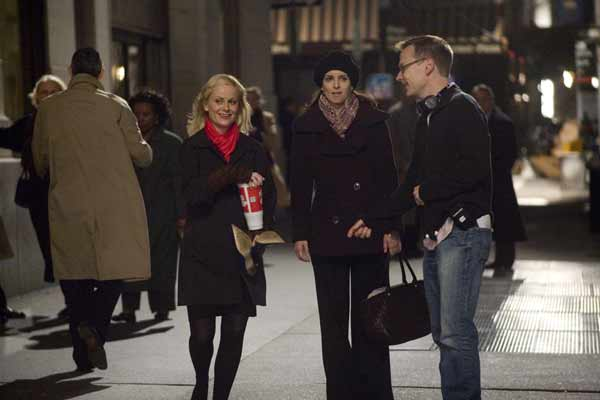 "Amy Poehler. Tina Fey and Michael McCullers making ""Baby Mama."""