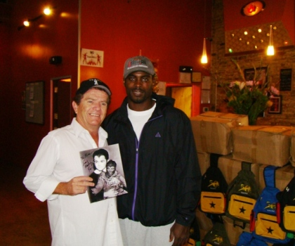 Butch Patrick and Philadelphia Eagles quarterback Michael Vick.