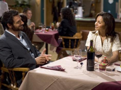 "EUREKA -- ""Sight Unseen"" -- Pictured: (l-r) Ed Quinn as Nathan Stark, Salli Richardson as Allison Blake -- SCI FI Channel Photo: James Dittiger"