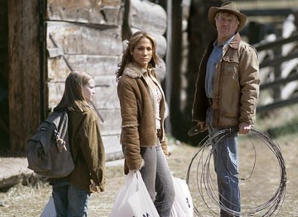 "Becca Gardner, Jennifer Lopez and Robert Redford in  ""An Unfinished Life."""