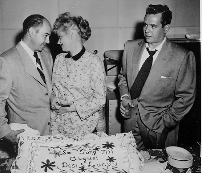 Jess Oppenheimer with Lucille Ball and Desi Arnaz.