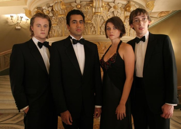 "Kal Penn and Holly Davidson in ""Van Wilder: The Rise of Taj."""