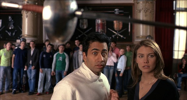 "Kal Penn and Laura Cohan in ""Van Wilder: The Rise of Taj."""