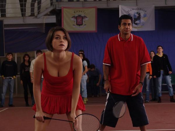 "Holly Davidson and Kal Penn in ""Van Wilder: The Rise of Taj."""