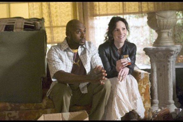 """Romany Malco and Mary-Louise Parker in """"Weeds."""""""