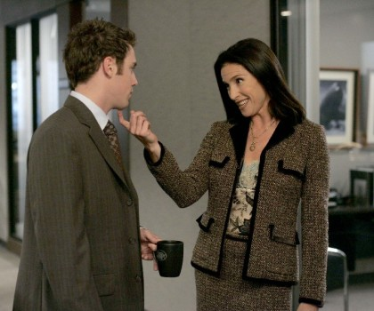 "Bret Harrison and Mimi Rogers in ""The Loop"""