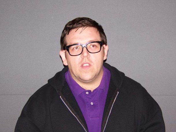 "Nick Frost at the New York press day for ""Paul."""