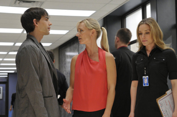 "COVERT AFFAIRS -- ""South Bound Suarez"" Episode #103 -- Pictured: (l-r) Christopher Gorham as Auggie Anderson, Kari Matchett as Joan Campbell, Piper Perabo as Annie Walker -- Photo by: Steve Wilkie/USA Network"