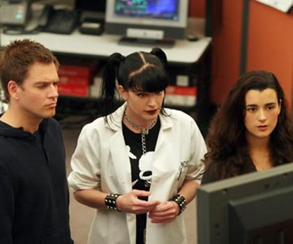 """Michael Weatherly, Pauley Perrette and Cote de Pablo in """"NCIS."""""""