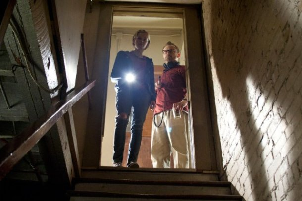 "Sara Paxton and Pat Healy in ""The Innkeepers."""