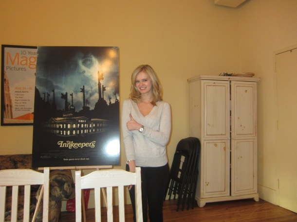 Sara Paxton at the New York headquarters of Magnolia Pictures.