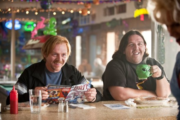 "Simon Pegg and Nick Frost in ""Paul."""