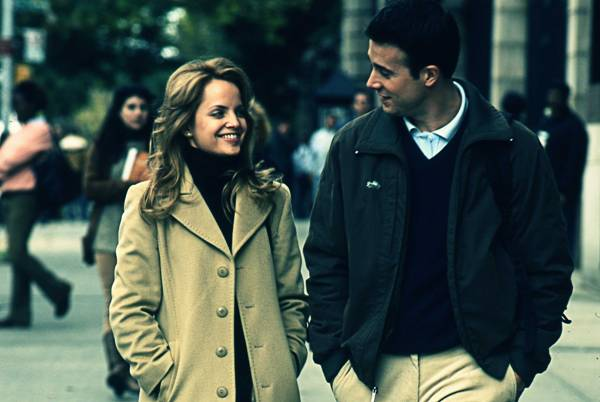 "Mena Suvari and Freddie Prinze, Jr. in ""Brooklyn Rules."""