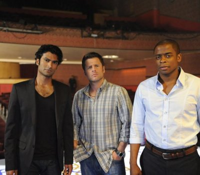 "James Roday and Dulé Hill in ""Psych."""
