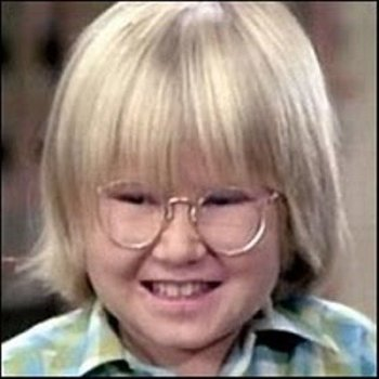 "Robbie Rist as Cousin Oliver in ""The Brady Bunch."""