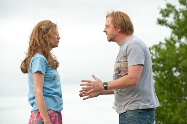 "Kristen Wiig and Simon Pegg  in ""Paul."""