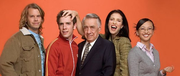 "Eric Christian Olsen, Bret Harrison, Philip Baker Hall, Mimi Rogers and Joy Osmanski in ""The Loop"""
