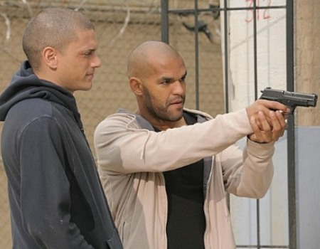 "Wentworth Miller and Amaury Nolasco in ""Prison Break."""