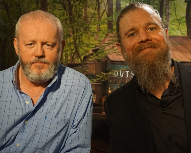 "David Morse and Ryan Hurst at the New York press day for ""Outsiders."""