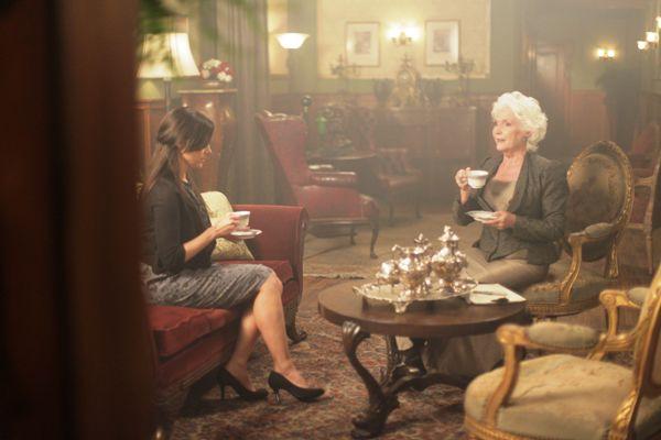 """Julie Benz and Fionnula Flanagan in """"Havenhurst."""""""
