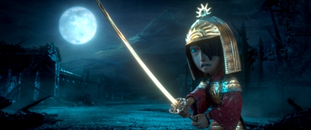 Kubo (voiced by Art Parkinson) faces off against the vengeful Moon King in animation studio LAIKA's epic action-adventure KUBO AND THE TWO STRINGS, a Focus Features release. Credit: Laika Studios/Focus Features