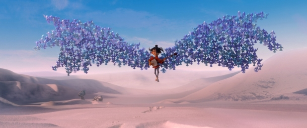Kubo (voiced by Art Parkinson) is swept up by origami wings in animation studio LAIKA's epic action-adventure KUBO AND THE TWO STRINGS, a Focus Features release. Credit: Laika Studios/Focus Features