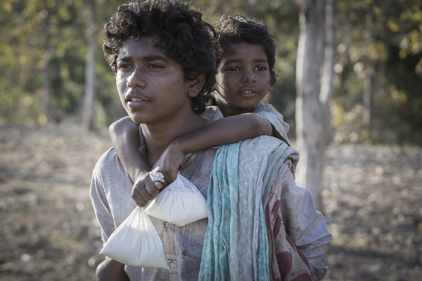 """Abhishek Bharate and Sunny Pawar in """"Lion."""""""