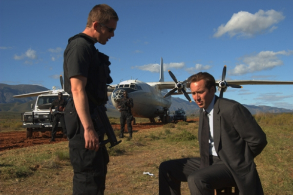 "Ethan Hawke and Nicolas Cage in ""Lord of War."""