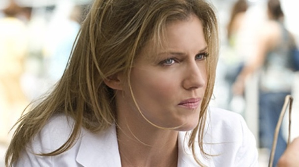 "Tricia Helfer in ""Burn Notice."""