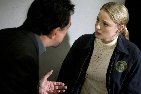 "Joe Mantegna and Rachel Nichols in ""Criminal Minds."""