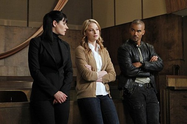 "Paget Brewster, Rachel Nichols and Shemar Moore in ""Criminal Minds."""