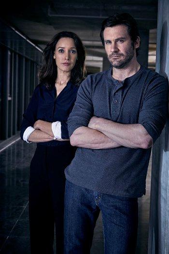 TAKEN -- Season: 1 -- Pictured: (l-r) Jennifer Beals as Christina Hart, Clive Standen as Bryan Mills -- (Photo by: Jeff Riedel/NBC)