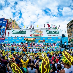 The Big Eat in the Coney Island Heat! The annual Nathan's Hot Dog Eating Contest – July 4, 2017