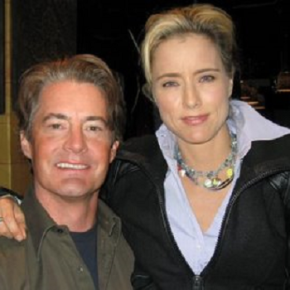 Tea Leoni and Kyle MacLachlan Have Fun Playing in Manure